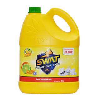 Swat Dishwashing Liquid Lemon 4Kg